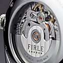 Firle Sennen Automatic in Green & Silver With Black Faux Croc Strap | Swiss Calibre: STP1-11 image