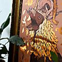 Capra - Copper Foil A3 Art Print image