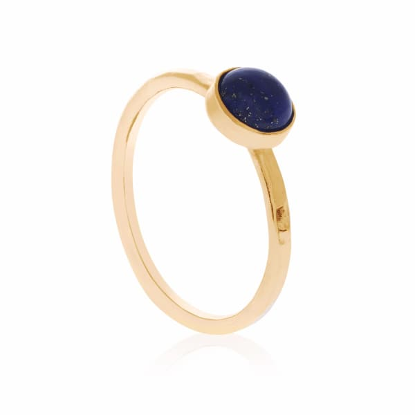 Gold Medium Lapis Lazuli Ring