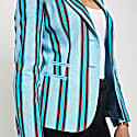 Blue Striped Ladies Tailored Sporting Jacket image