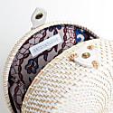 Santorini Round Basket Bag image