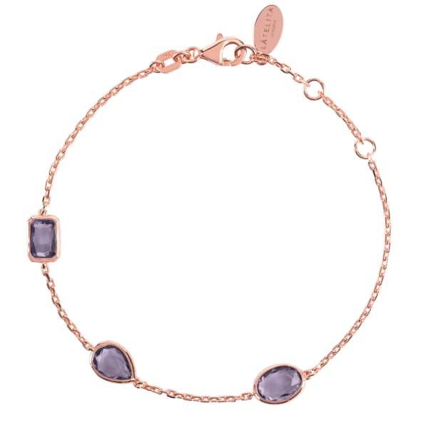 LATELITA LONDON Venice Bracelet Rosegold Amethyst