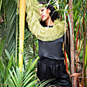 Tulle Scarf Olive Green image