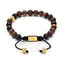 Mixed Brown Semi-Precious Stones & Black Crystal Bracelet image