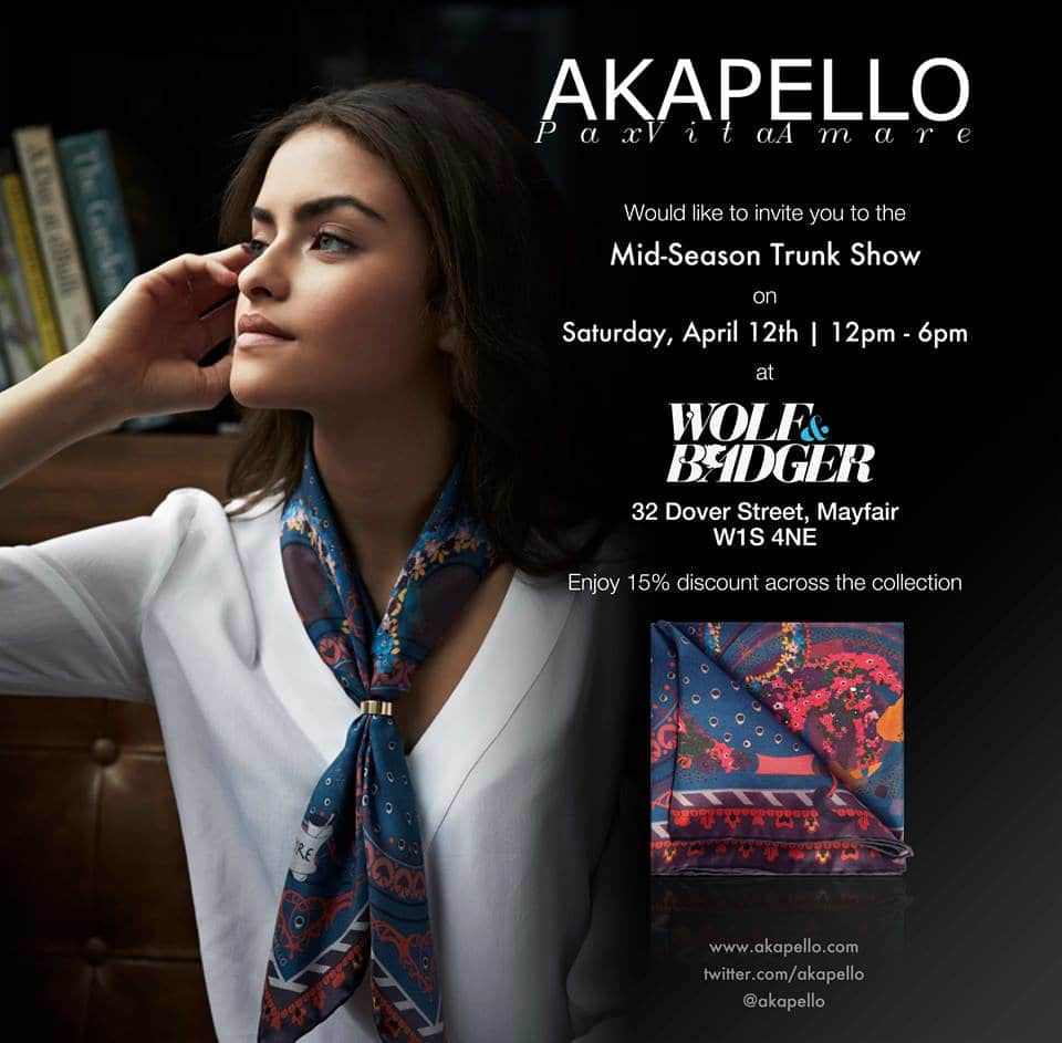 AKAPELLO Trunk Show Invite 2
