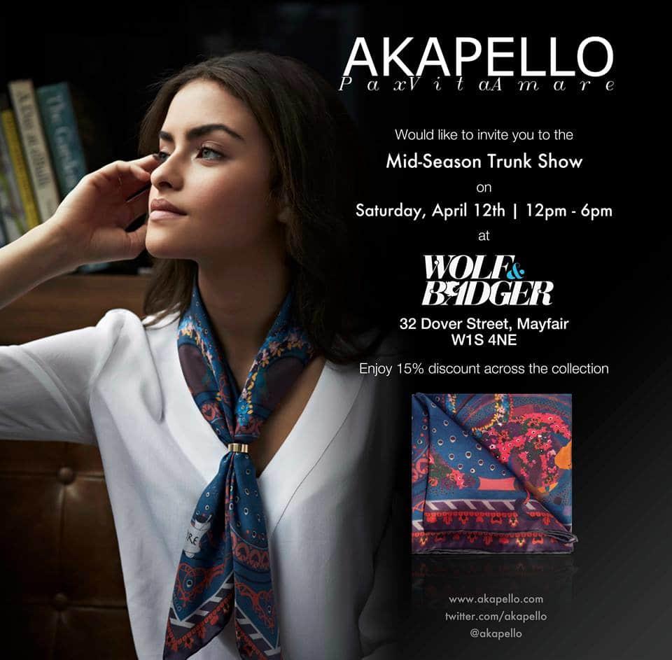 AKAPELLO Trunk Show Invite 2