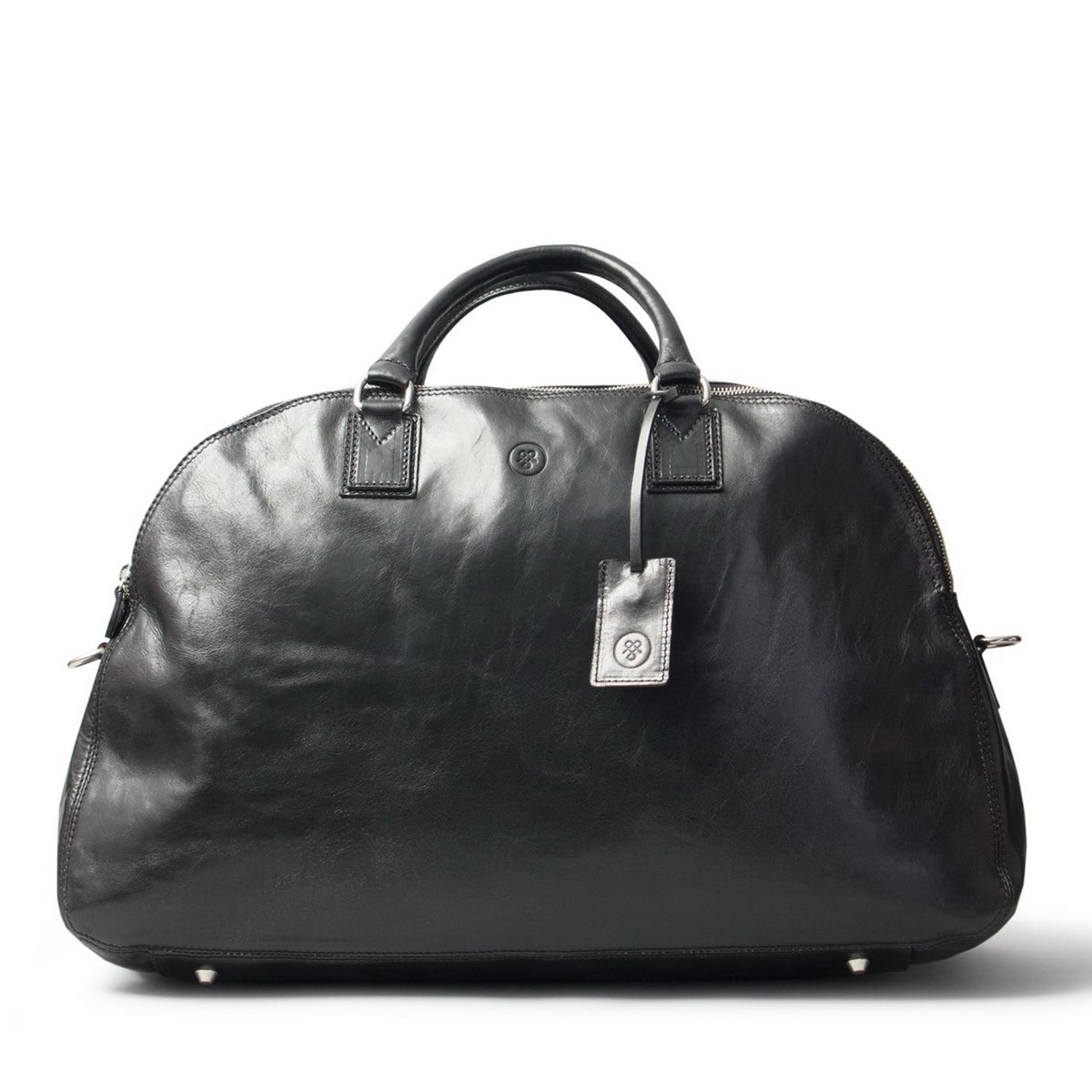 Luxury Italian Leather Women s Holdall Bag The Liliana Night Black ... 7d5c30abec