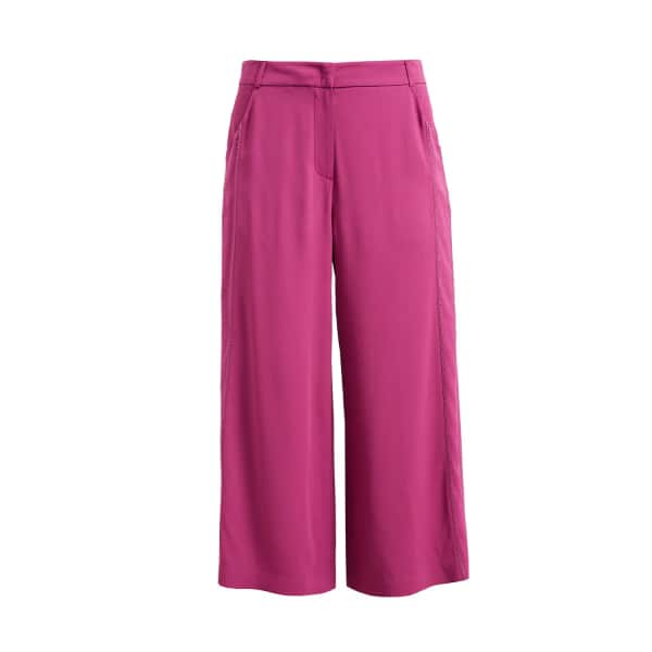 Wtr  WtR Pink Cropped Wide Leg Trousers