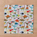 Handkerchief Pocket Square Set Dinosaurs, Safari Animals & Prehistoric Animals image