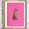 The Leopard Statue Signed Print image