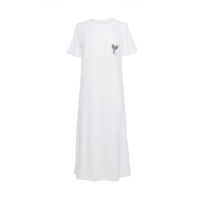 Evert White T-Shirt Dress by Tomcsanyi