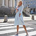 Anne Blue Cotton Shirt Dress image