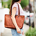 Vida Vintage Leather Tote Bag image