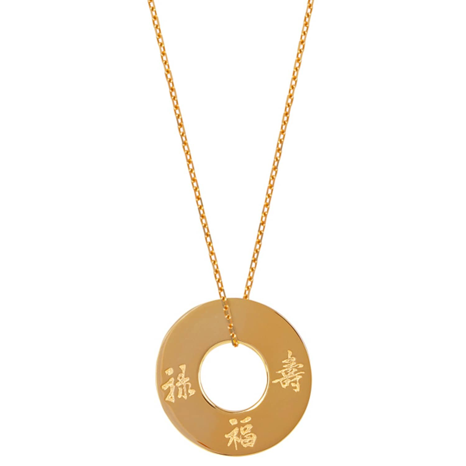 Three Lucky Stars Gold Plated Pendant Necklace image 7b100c3a809