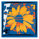 Orange Flowers Summer Small Square Scarf image