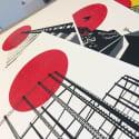 Blood Moon London Abstract Art Print Set image