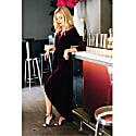 Bordeaux Velvet Felicia Dress image