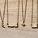 14K Gold Use Your Words Cursive Love Necklace image