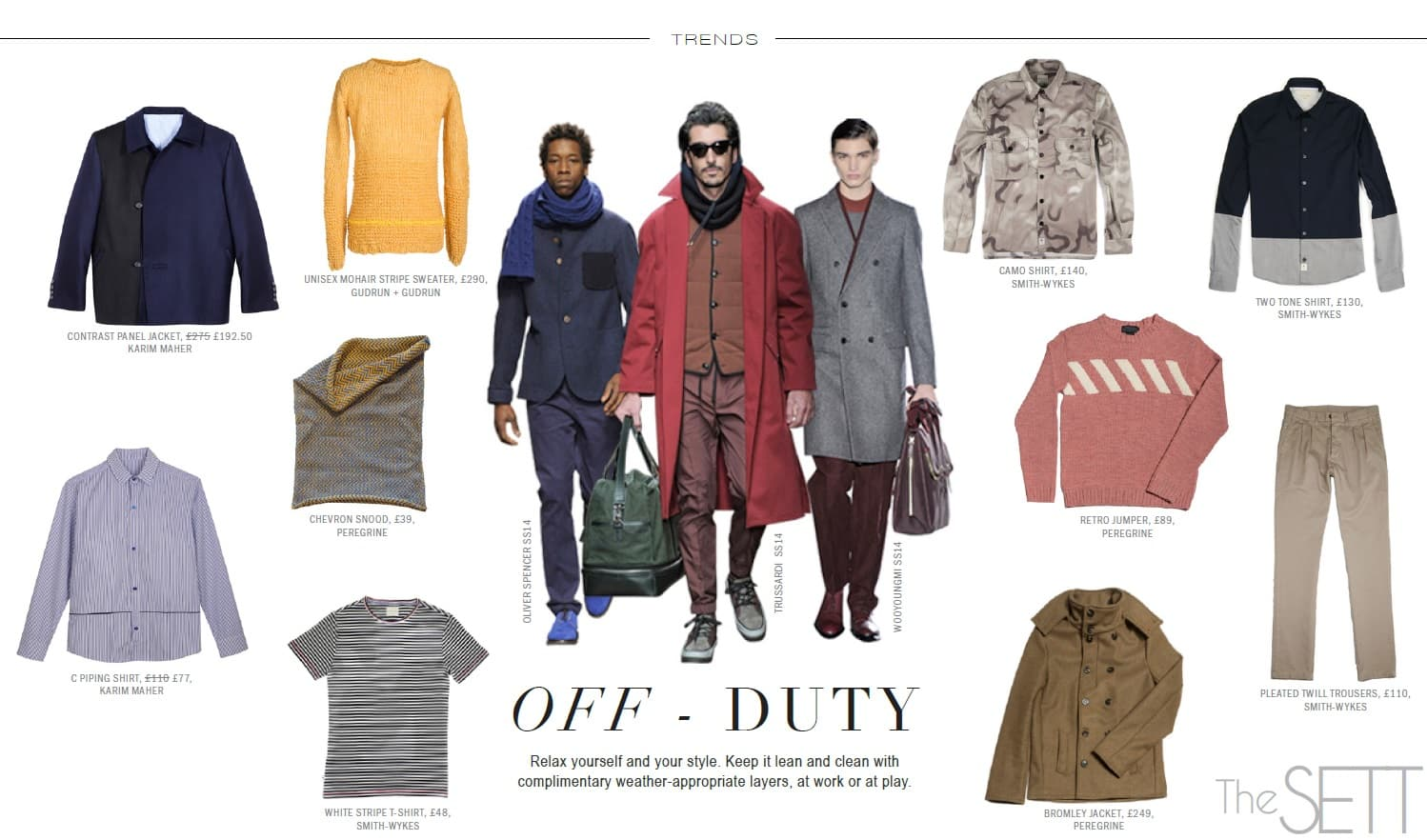 trends - mens off duty