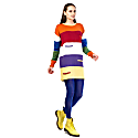 Colorful Knitwear Mini Dress image