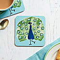 Set Of Four Peacock Coasters image