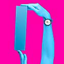 Ksana Neon Blue Vegan Watch - 38mm image