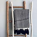 Hand Sewn Throw - Black & White Pattern image