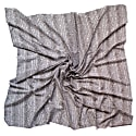 Fishskin Large Silk Cotton Scarf - Ivory image