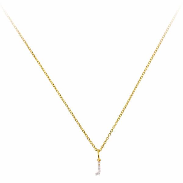 SHARON MILLS LONDON Monogram Mini Diamond Necklace J
