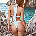 Opulent One-Piece Swimsuit In White image
