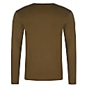 Bee Embroidered Long Sleeved Top Khaki Green Men image