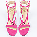 Fucsia Suede Sandals With Rivets image