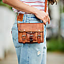 Vida Vintage Mini Mini Leather Satchel image
