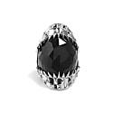 Black Vampire Bite Ring Silver image