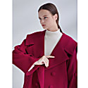 Oversized Sailor Collar Coat Magenta image