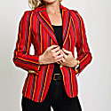 Ladies Red Striped Mara Jacket image