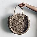 Milu Natural Round Basket Bag image