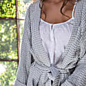 Misty Pure Cotton Waffle Robe Grey image