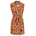 Jacqui African Print Sleeveless Blazer Dress image