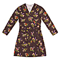 Terez Lame Flower Print Wrap Dress image