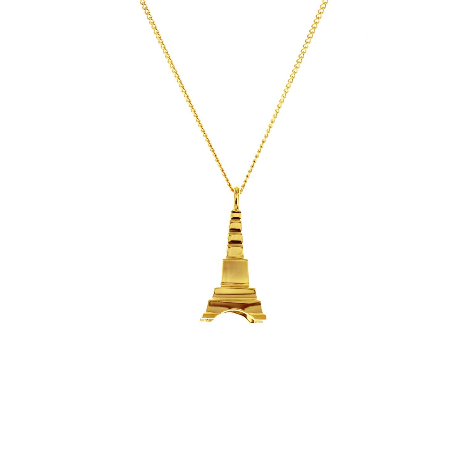 Origami Jewellery Sterling Silver Mini Eiffel Tower Origami Necklace SVLqY56Y