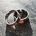 9Ct White Gold Flat Matt Comfort Fit Ring 8Mm A Wide Heavy Weight Mens Wedding Band With A Matte Finish image