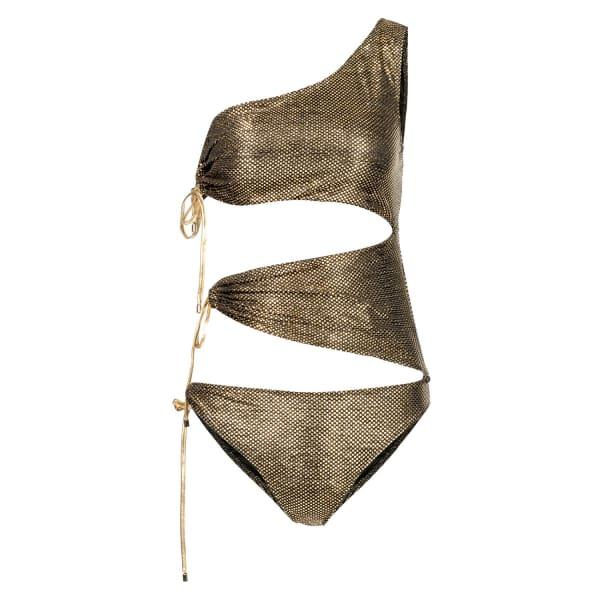 NISSA Swimsuit In Metallic Shades