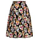 Hanna Skirt Happy Skulls Black image