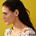 Boho Geometry Gold Hoop Earrings image