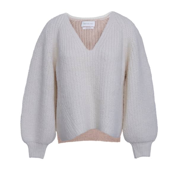Eleven Six Tess Sweater - Ivory & Praline In Multicolour