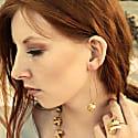 Algae Long Earrings Silver image