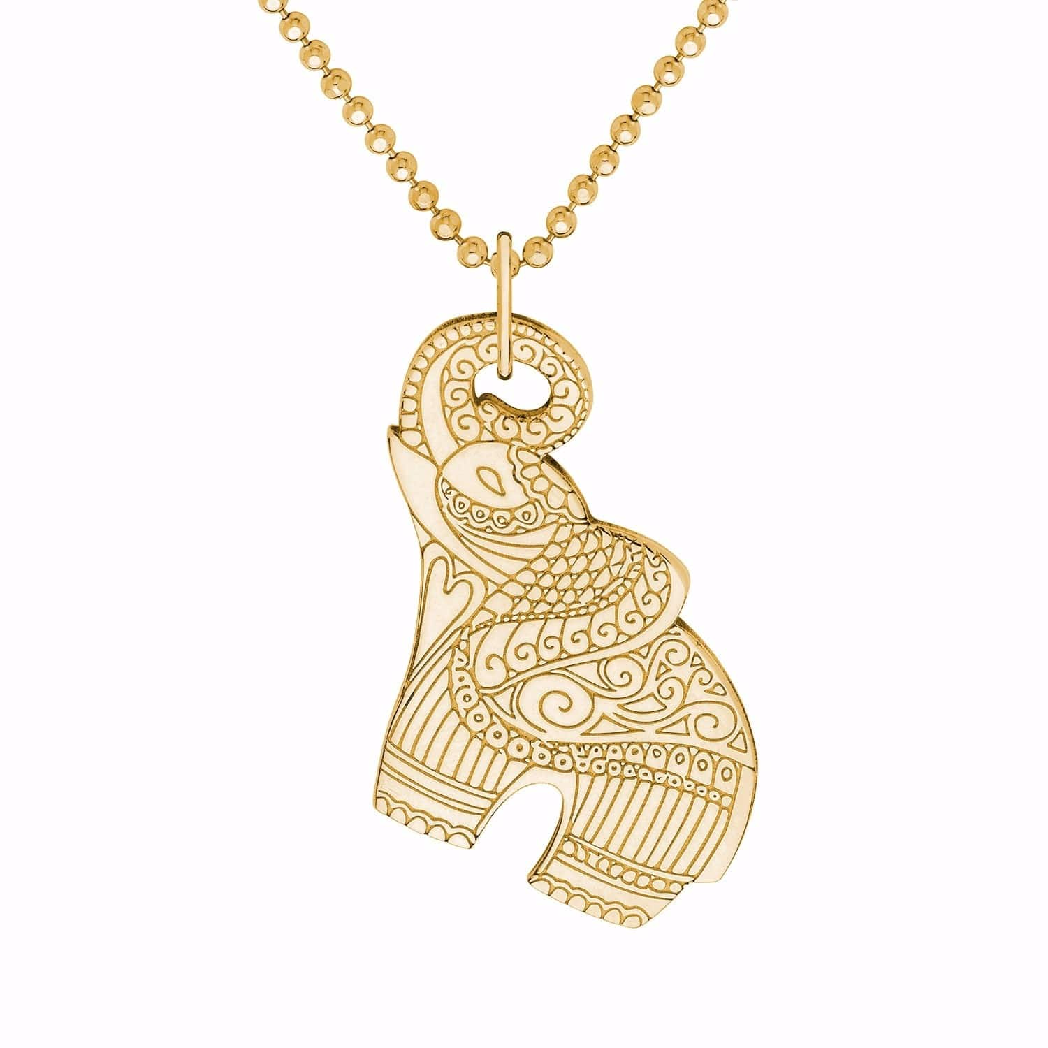 Gold elephant pendant necklace cartergore wolf badger gold elephant pendant necklace image aloadofball Gallery