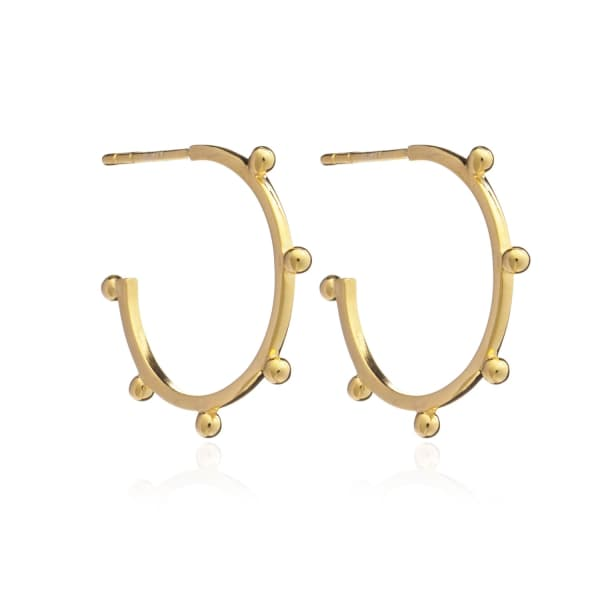 Punk Hoop Earrings Gold