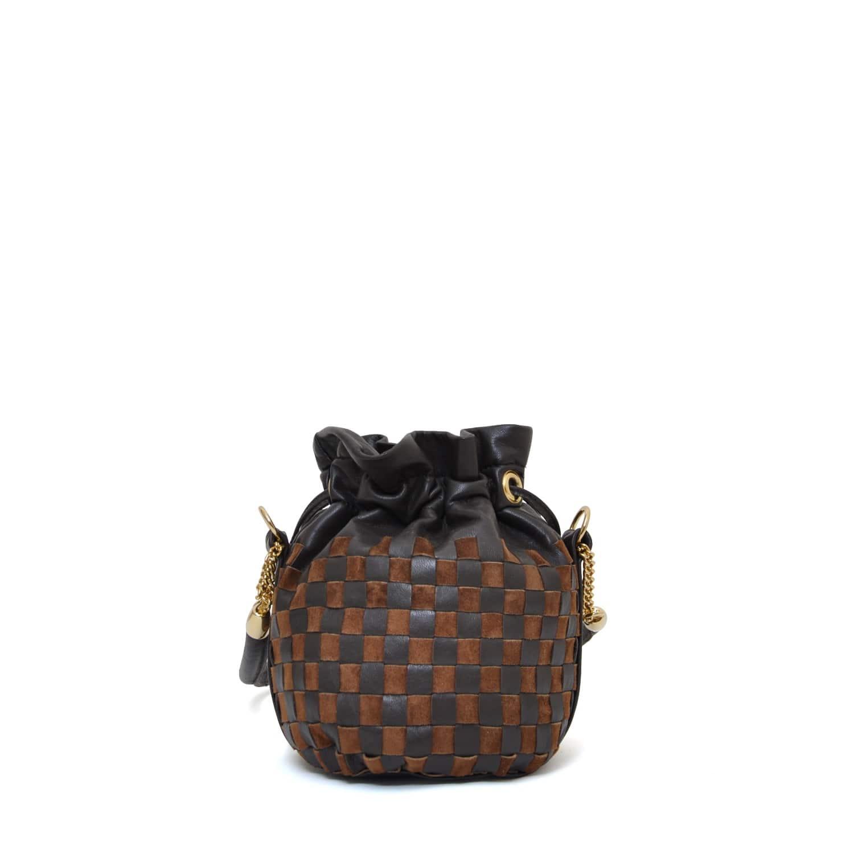 5bb3b64466c Anna Mini Bucket Bag Chess Check | Eddie | Wolf & Badger